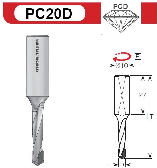 PCD Dübelbohrer Z2
