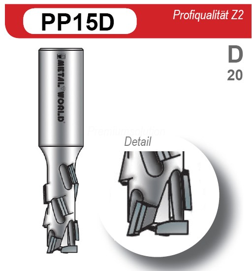 DIA Schaftfräser Z2, BH 2,7mm