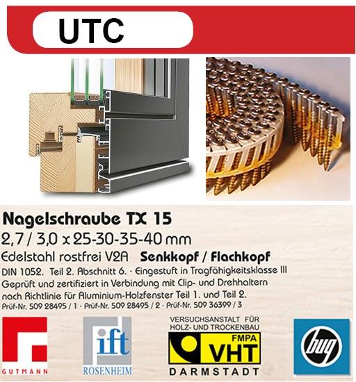UTC Nagelschrauben