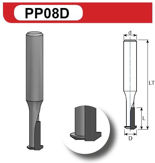PCD (DIA) Clamexfräser Z2