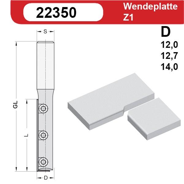 Wendeplatten Nutfräser Z1